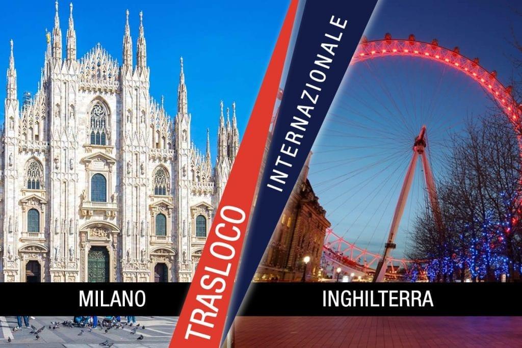 Traslochi Internazionali Milano - Inghilterra