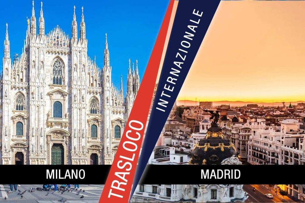 Traslochi Internazionali Milano - Madrid